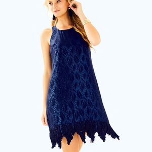 NWT Lilly Pulitzer Marquette Shift Dress Navy XS